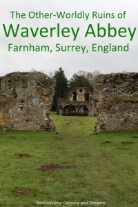 The Otherworldly Ruins of Waverley Abbey, Britain's first Cistercian monastery, located in the Surrey countryside near Farnham #England #history #Surrey #Farnham #WaverleyAbbey #travel