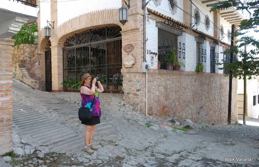 The Colourful Architecture and History of Gringo Gulch, Puerto Vallarta, Mexico: Me with the camera