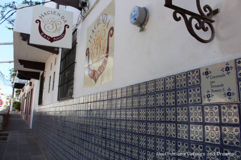 The Colourful Architecture and History of Gringo Gulch, Puerto Vallarta, Mexico: ceramic tile decorations
