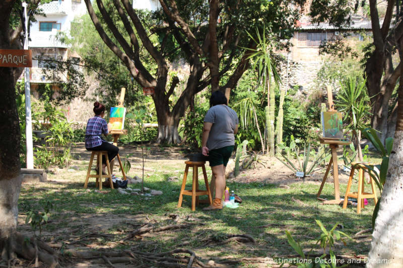 Artists working on Isla Cuale: Puerto Vallarta's Island Oasis