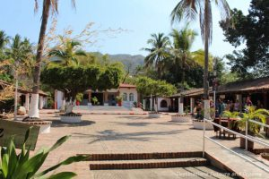 Centro Cultural Cuale building and plaza on Isla Cuale: Puerto Vallarta's Island Oasis