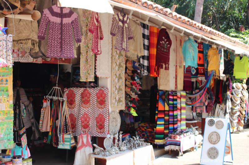 Handicraft stalls on Isla Cuale: Puerto Vallarta's Island Oasis