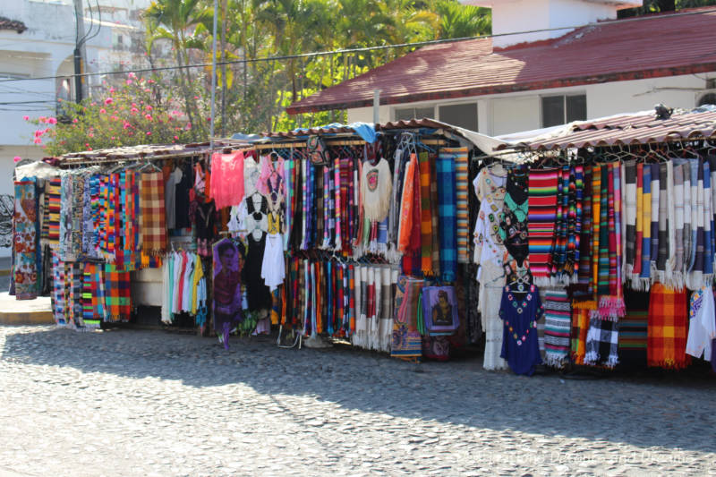 Puerto Vallarta street stall - shopping and bartering is one of a dozen (or more) things to do in Puerto Vallarta