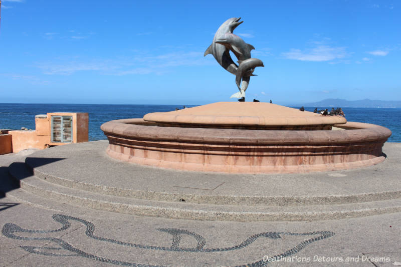 Seaside Sculptures Along the Malecón in Puerto Vallarta, Mexico: The Friendship Fountain
