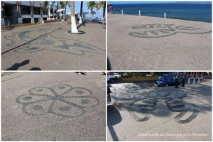 Strolling the Malecón: Huichol symbols in the pavement