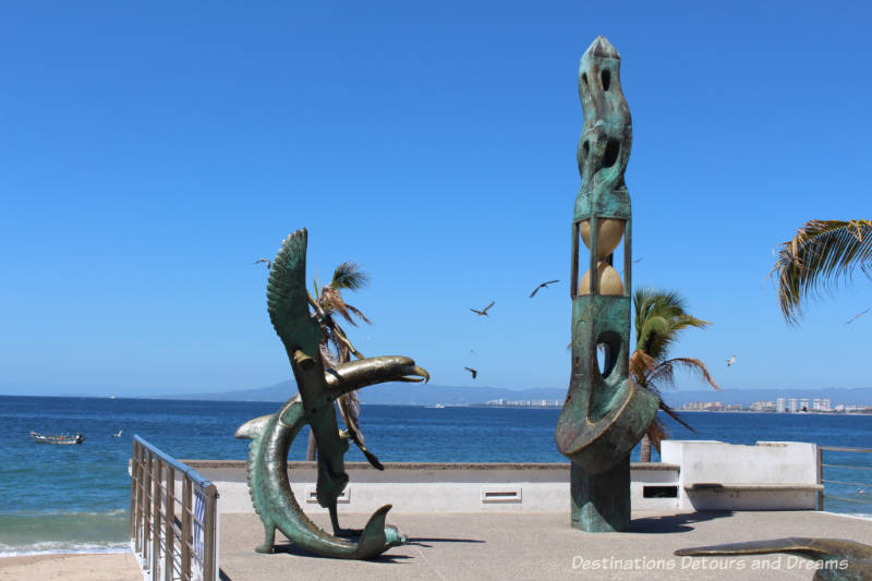 Seaside Sculptures Along the Malecón in Puerto Vallarta, Mexico