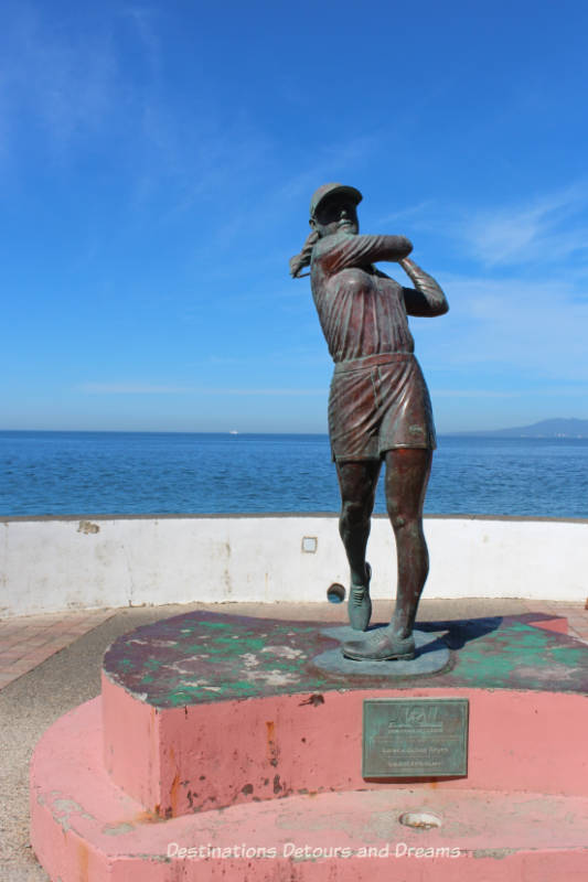 Seaside Sculptures Along the Malecón in Puerto Vallarta, Mexico: Lorena Ochoa