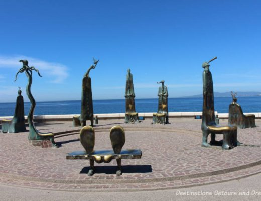 Seaside Sculptures Along the Malecón in Puerto Vallarta, Mexico: The Roundabout of the Sea or La Rotonda del Mar