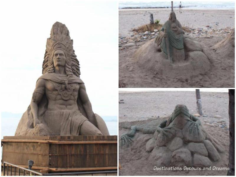 Strolling the Puerto Vallarta Malecón:: sand sculptures