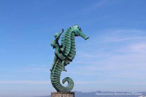 Seaside Sculptures Along the Malecón in Puerto Vallarta, Mexico: Boy on a Seahorse