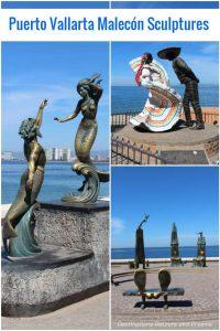 Seaside Sculptures Along the Malecón in Puerto Vallarta, Mexico
