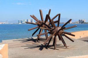Seaside Sculptures Along the Malecón in Puerto Vallarta, Mexico: Eriza-Dos (Standing on End)
