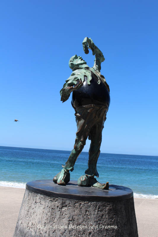 Seaside Sculptures Along the Malecón in Puerto Vallarta, Mexico: The Subtle Stone Eater