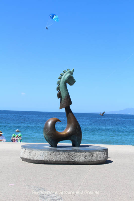 Seaside Sculptures Along the Malecón in Puerto Vallarta, Mexico: The Good Fortune Unicorn