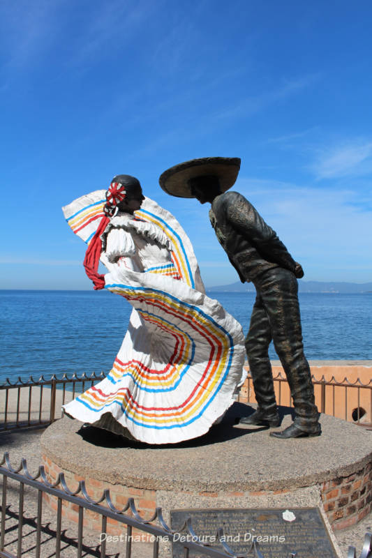 Seaside Sculptures Along the Malecón in Puerto Vallarta, Mexico: Vallarta Dancers