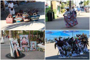 Strolling the Puerto Vallarta Malecón: vendors along the Malecón