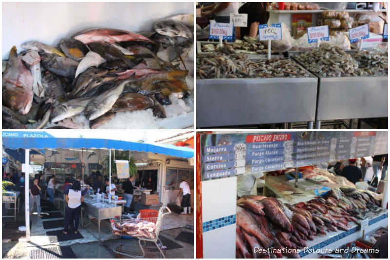 Scenes from Mercado del Mer (fish market) in Puerto Vallarta