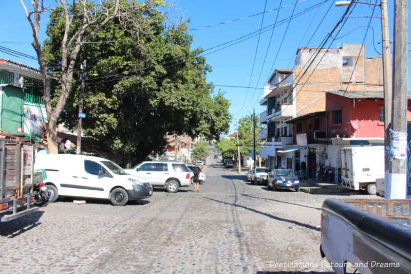Street by El Panteón Cemetery in Puerto Vallarta