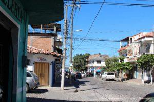 Street in 5 de Diciembre neighbourhood of Puerto Vallarta