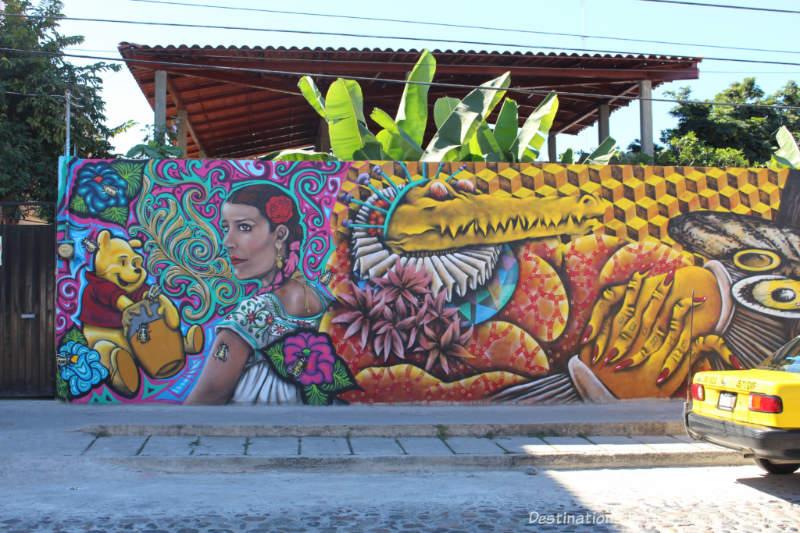 Street art in 5 de Diciembre in Puerto Vallarta