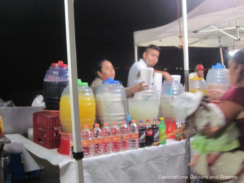 Feasting in Puerto Vallarta: stall selling agua frescas