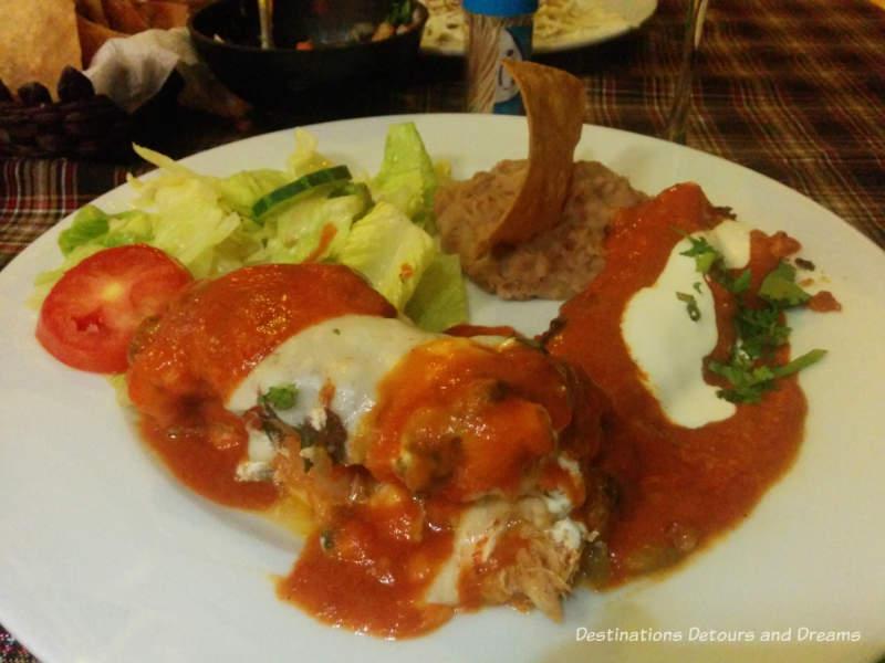 Mexican meal at El Brujo in Puerto Vallarta