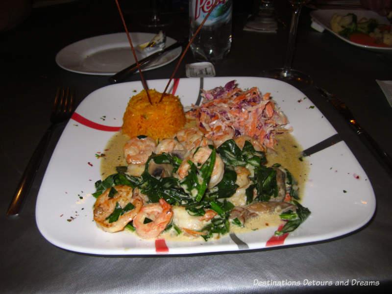 feasting in Puerto Vallarta: shrimp dish at Jorge's Hideaway Shrimp Shack