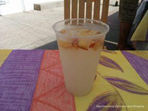 Feasting in Puerto Vallarta: a glass of tuba