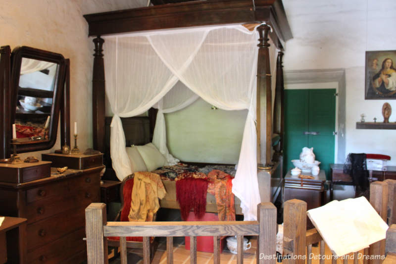 Bedroom in La Casa de Estudillo, Old Town San Diego State Historic Park