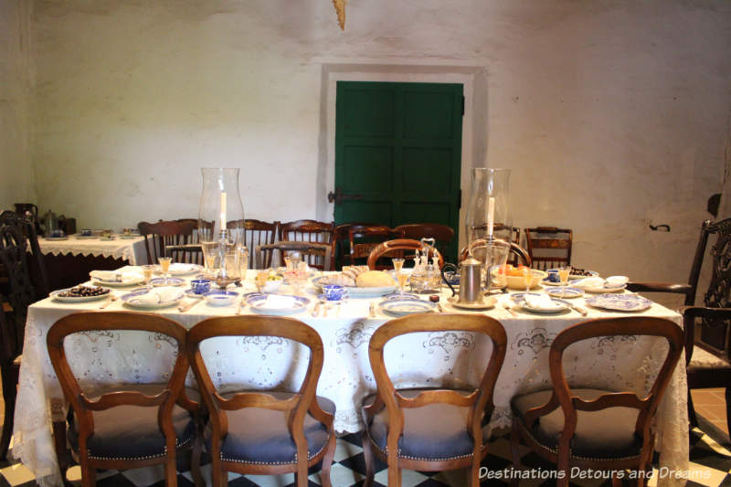 Dining room, circa early 1800s, in Old Town San Diego State Historic Park Casa de Estudillo
