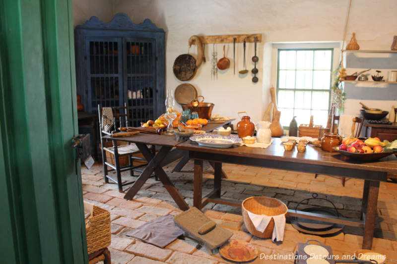 Kitchen, circa early 1800s, in Old Town San Diego State Historic Park Casa de Estudillo