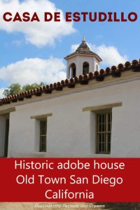 Historic southern California adobe house: Casa de Estudillo in Old Town San Diego Historic State Park #SanDiego #history #MexicanEra #California #statepark #museum