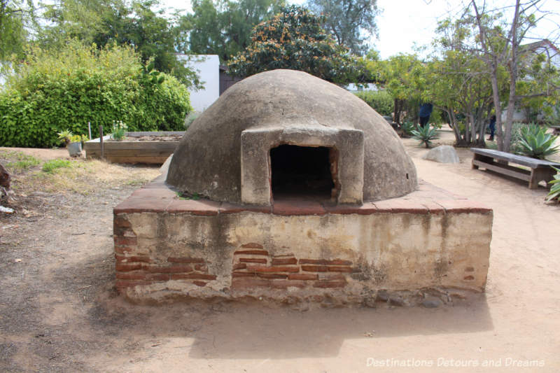 Dome shaped adobe brick oven from the early 1800s atOld Town San Diego State Historic Park Casa de Estudillo