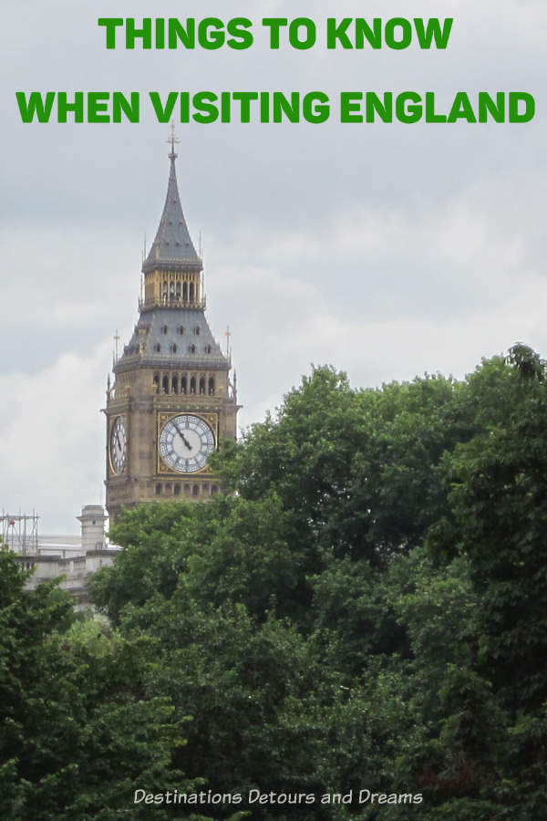Things to Know When Visiting England - Practical tips for North Americans #England #UnitedKingdom #TravelTips