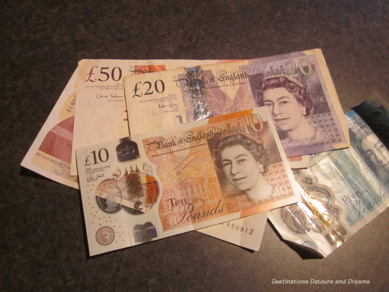United Kingdom currency - things to know when travelling to England