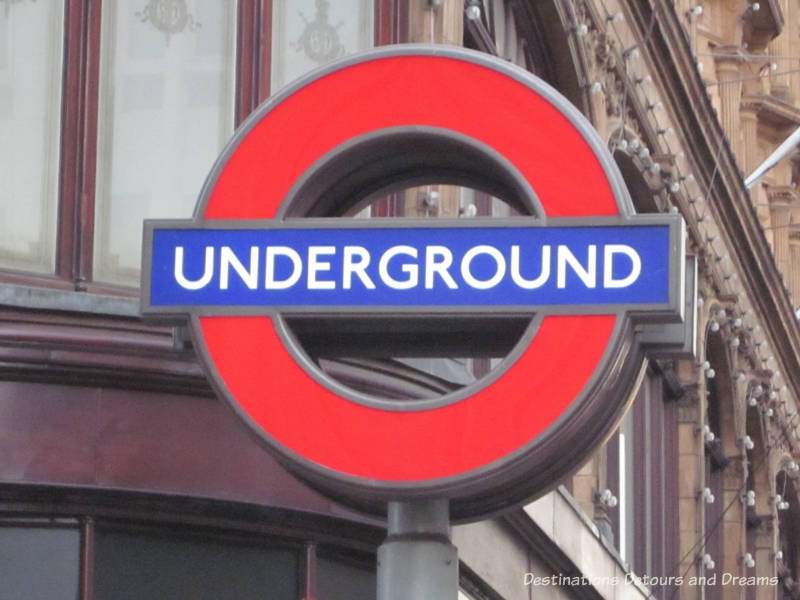 Underground sign in London -things to know when visiting England