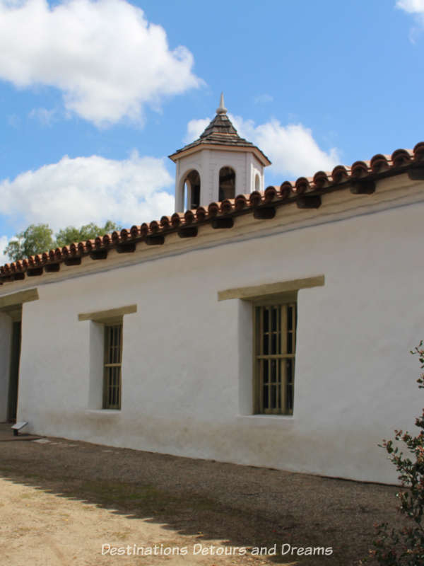 Historic adobe house Casa de Estucillo in Old Town San Diego State Historic Park