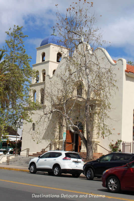 Church of the Immaculate Conception in the historic Old Town San Diego neigjbourhood