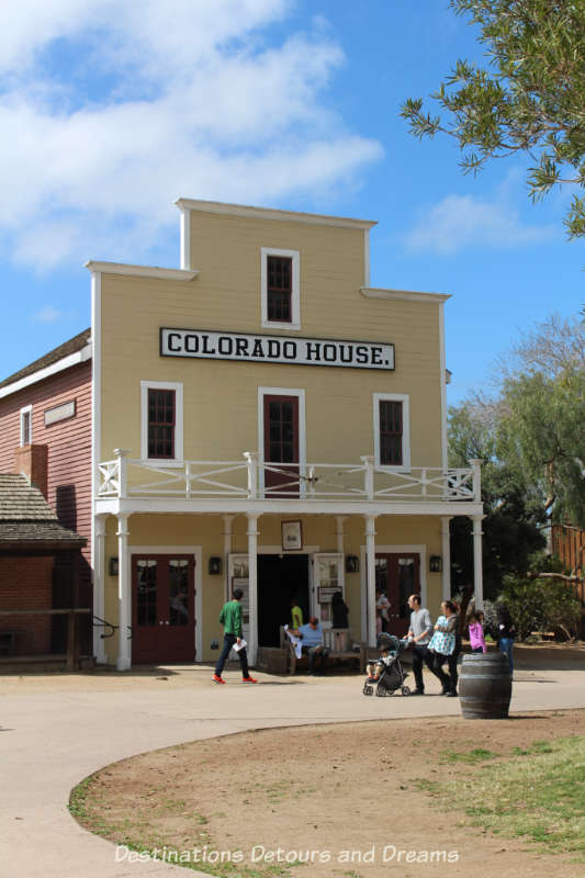 Colorado Hotel building, circa 1851, in Old Town San Diego State Park