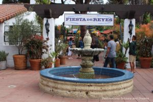 Fiesta de Reyes fountain and entrance in Old Twon San Diego State Historic Park