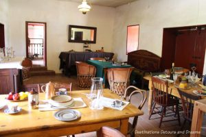 Old hotel dining room at Old Town San Diego State Historic Park