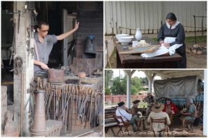 Living history demonstrations of blacksmith, soap making, and stage hands at Old Town San Diego State Historic Park