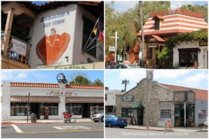 A collection of buildings in the historic neighbourhood of Old Town San Diego