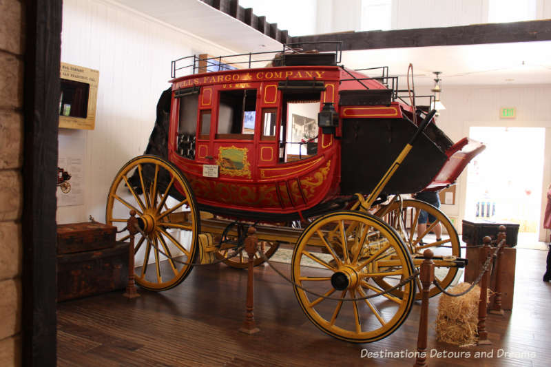 Original Wells Fargo coach from 1868 housed in a museum in Old Town San Diego State Historic Park