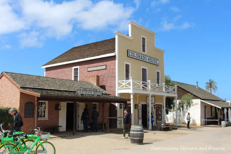 Buildings from the 1800s in Old Town San Diego