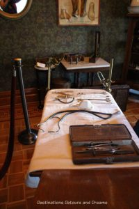 Vintage medical equipment in Rosson House, Phoenix