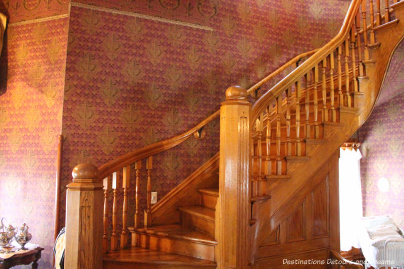 Rosson House Museum staircase in entryway