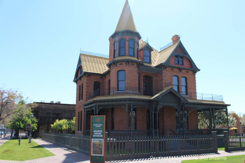Rossion House Museum in historic Heritage Square in Phoenix, Arizona
