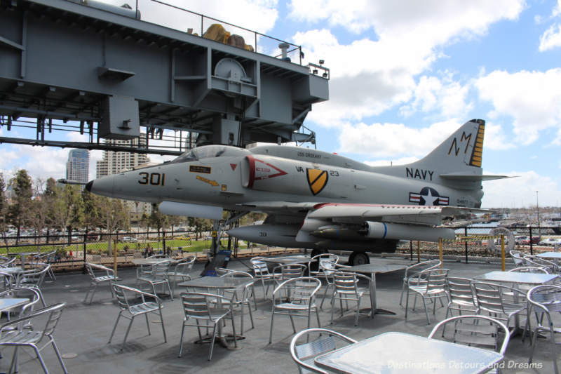 Eating deck at USS Midway