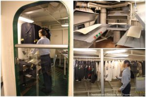 Laundry and clothing care facilities aboard the USS Midway